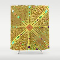 labyrinth Shower Curtains featuring Labyrinth by Fractalinear