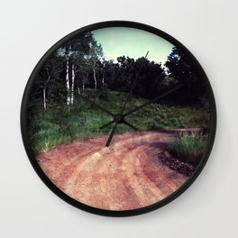 A Curve In The Road Wall Clock