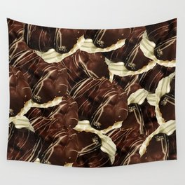 Brown Pod Puffs Wall Tapestry