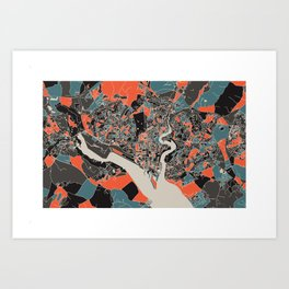 Southampton Multicoloured Print Art Print