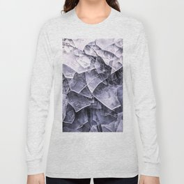 Cracked Ice Tiles In Lake Shore #decor #buyart #society6 Long Sleeve T-shirt