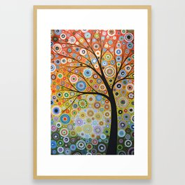 Abstract Art Original Landscape Painting ... Rays of Hope Framed Art Print