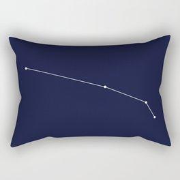 Aries Star Sign Deep Blue Rectangular Pillow