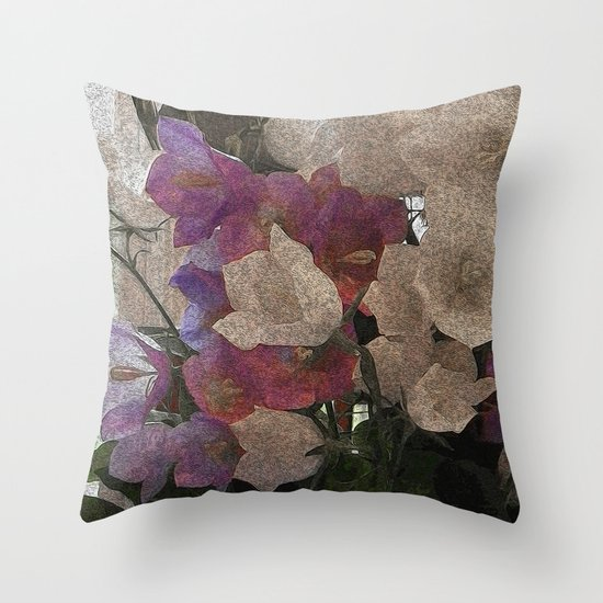 Campanulas Throw Pillow