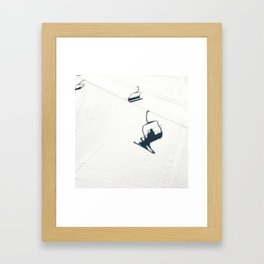Chair lift shadow Framed Art Print