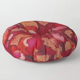 Red Poppy Profusion Floor Pillow