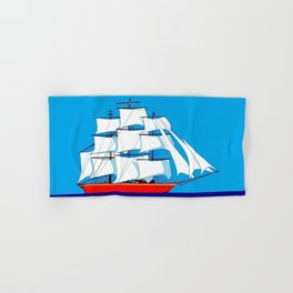 Clipper Ship in Sunny Sky Hand & Bath Towel