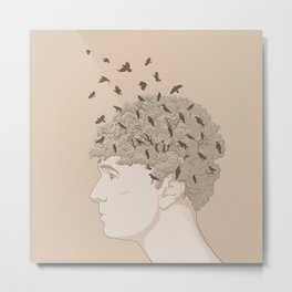 NATURE PORTRAITS 07 SIMPLIFIED Metal Print