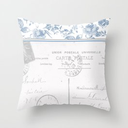 Emma in Blue Throw Pillow