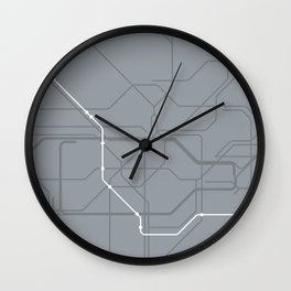 London Underground Jubilee Line Route Tube Map Wall Clock