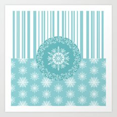 Frosty Snowflakes Coordinate Art Print