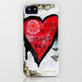 Let Your Heart Fly iPhone Case