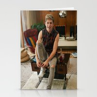 niall horan Stationery Cards featuring Niall Horan by behindthenoise