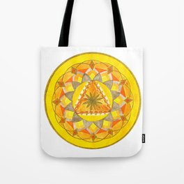 Golden Hour Mandala Tote Bag