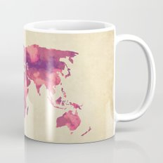 Watercolor World Map II Mug