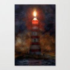 Das brennende Leuchtsignal Canvas Print
