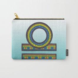 Libra Zodiac Zentangle Style Mandala Print  Carry-All Pouch