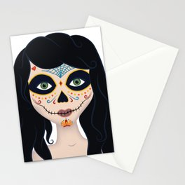 Day of the Dead Girl Illustration Stationery Cards