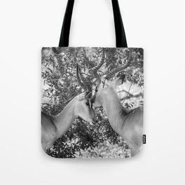 Gazelle (Black and White) Tote Bag
