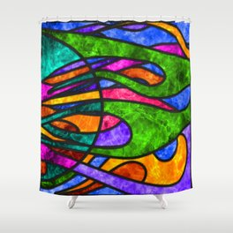 SG Phyre, panel 2 Shower Curtain