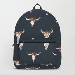 Texas Longhorns university floral crown pattern gifts college sports football fan Backpack