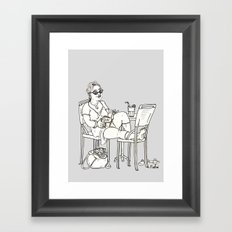 Sci Fi Afternoon Framed Art Print