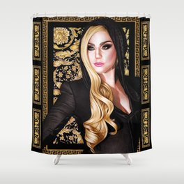 Mother Monster - Versace Shower Curtain