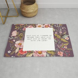 What did my heart do, with its love - S. Plath Collection Rug