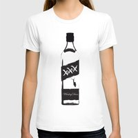 whiskey T-shirts featuring Whiskey Diver by Luke Brogoitti