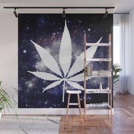 Weed : High Times Navy Blue Galaxy Wall Mural