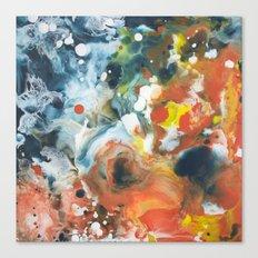 Color Commentary #13: Gone Snorkeling (Prussian Blue & Orange) [Lise Bjerregaard Nielsen] Canvas Print