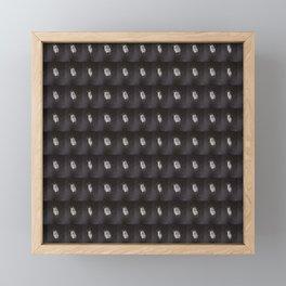 White Mask Framed Mini Art Print