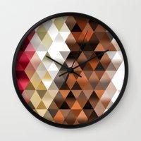 triangle Wall Clocks featuring Triangle by Susann Mielke