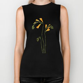 orange freesia watercolor Biker Tank