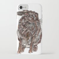 hare iPhone & iPod Cases featuring Hare by Meredith Mackworth-Praed