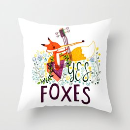 Yes. Foxes. Throw Pillow