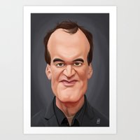 quentin tarantino Art Prints featuring Celebrity Sunday ~ Quentin Tarantino by rob art | illustration