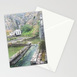Outside castle walls in Kotor, Montenegro Stationery Cards