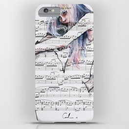 Waiting Place on sheet music iPhone Case