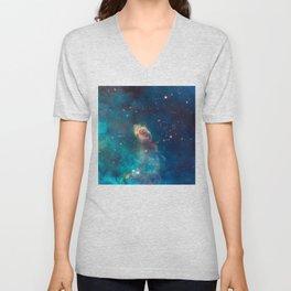 Stellar Jet in the Carina Nebula Unisex V-Neck