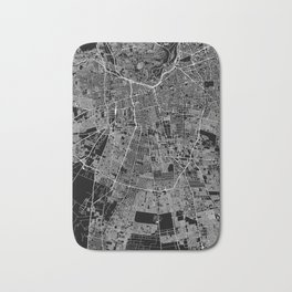 Santiago Black Map Bath Mat