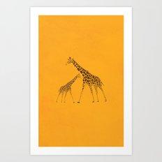 Wild Animal Giraffe Picture Art Print