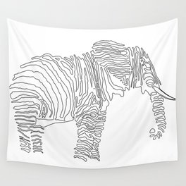 The Walking Elephant Wall Tapestry