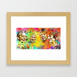 The Stones Pop Art Painting Framed Art Print