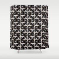 illusion Shower Curtains featuring Illusion by dominiquelandau
