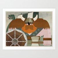 viking Art Prints featuring VIKING by danvinci