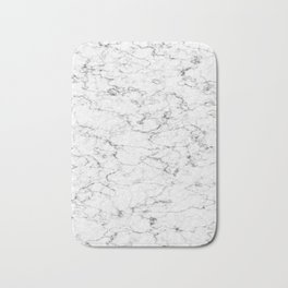 Marble White and Gray Texture Abstract Photography Design Bath Mat