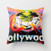 cyberpunk Throw Pillows featuring Bollywood Cyberpunk by BOLLYWOOD