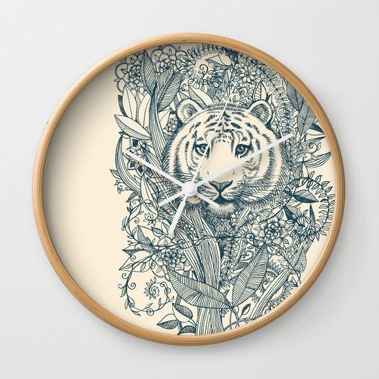 Tiger Tangle Wall Clock