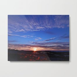 Sunset and Blue Sky Metal Print